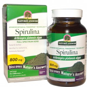 Nature's Answer Spirulina 90 Veggie Caps