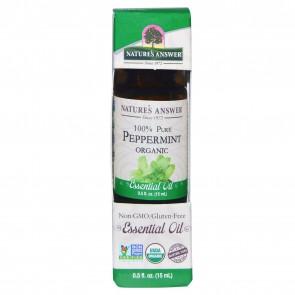 Nature's Answer Organic Peppermint Essential Oil 0.5 fl oz (15 mL)