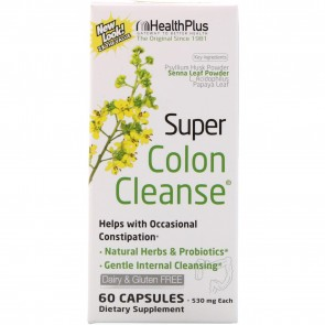 Health Plus Super Colon Cleanse 60 Capsules 500mg