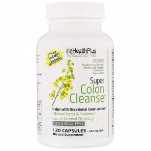Health Plus Super Colon Cleanse Psyllium 120 Capsules 500mg