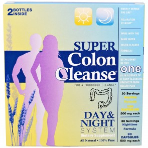 Health Plus Super Colon Cleanse Day & Night System 500 mg 270 Capsules