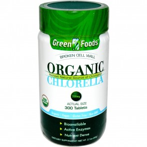 Green Foods Organic Chlorella 200 mg 300 Tablets