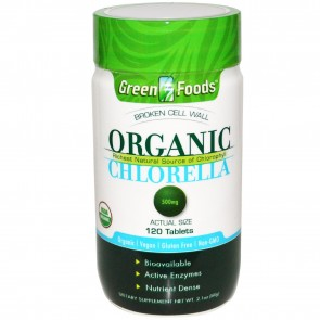 Green Foods Organic Chlorella 500 mg 120 Tablets