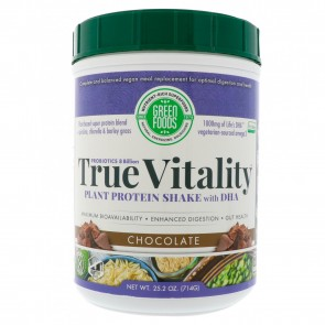 Green Foods True Vitality Plant Protein Shake with DHA Chocolate 25.2 oz