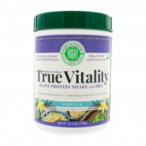 Green Foods True Vitality Plant Protein Shake with DHA Vanilla 25.2 oz