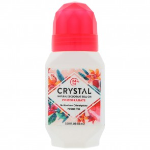 Crystal Essence Mineral Deodorant Roll-On Pomegranate 2.25 fl oz