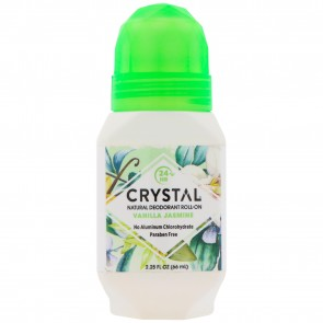 Crystal Essence Mineral Deodorant Roll-On Vanilla Jasmine 2.25 fl oz