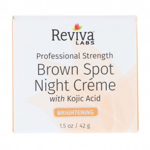 Reviva Labs Brown Spot Night Cream with Kojic Acid 1.5 oz