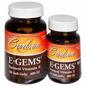 Carlson E-Gems 400 IU 90 + 44 Softgels