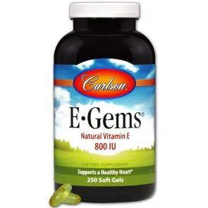 Carlson E-Gems 800 IU 250 Softgels