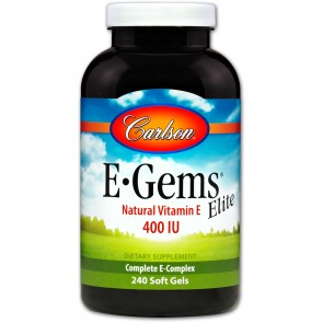 Carlson E-Gems Elite 400 IU 240 Softgels