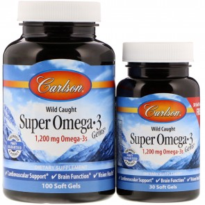 Carlson Super Omega-3 Gems 100+30 Softgels