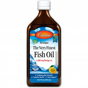 Carlson The Very Finest Fish Oil Natural Lemon Flavored 500 ml