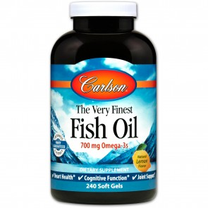 Carlson The Very Finest Fish Oil Natural Lemon Flavored 240 Softgels