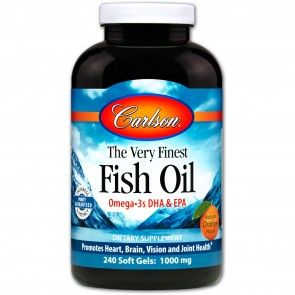 Carlson The Very Finest Fish Oil Natural Orange Flavored 240 Softgels