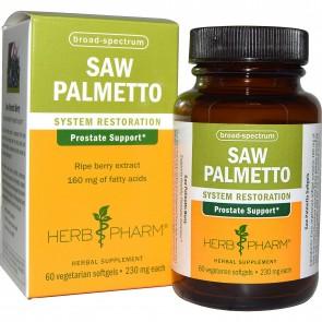 Herb Pharm, Saw Palmetto, 230 mg, 60 Veggie Softgels