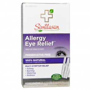 Similasan Allergy Eye Relief Eye Drops 20 Sterile Single-Use Droppers 0.014 fl oz (0.4 ml) Each