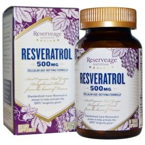 ReserveAge Organics Resveratrol 500 mg 60 Ea Veggie Caps