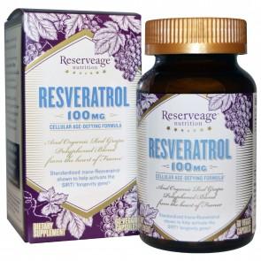 ReserveAge Resveratrol 100mg 60Vcaps