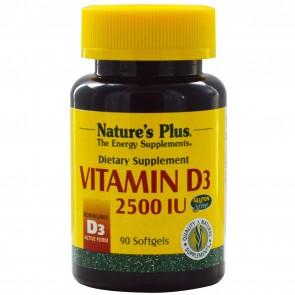 Nature's Plus Vitamin D3 2500 IU 90 Softgels