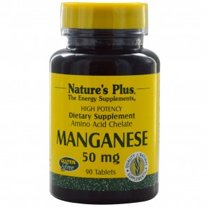 Nature's Plus Manganese 50 mg 90 Tablets