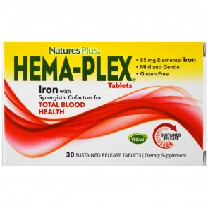 Nature's Plus Hema-Plex 30 Sustained Release Tablets