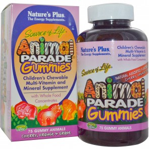 Nature's Plus Source of Life Animal Parade Gummies 75 Gummy Animals