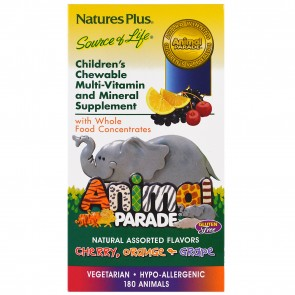 Nature's Plus Animal Parade Assorted Cherry, Orange, & Grape 180 Chewable Tablets