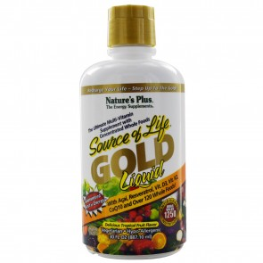 Nature's Plus Source Of Life Gold Liquid Multivitamin Tropical Fruit Flavor 30 fl oz