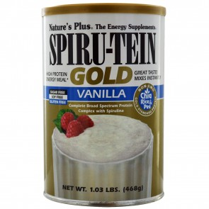 Nature's Plus Spiru-Tein Gold High Protein Energy Meal Vanilla 1.03 lbs (468 g)