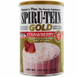 Nature's Plus Spiru-Tein Gold High Protein Energy Meal Strawberry 1.03 lbs (468 g)