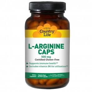 Country Life L-Arginine 500 Mg  With B-6 200 Vegicaps