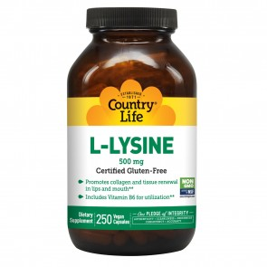 Country Life L-Lysine 500 Mg With B-6  250 Vegicaps