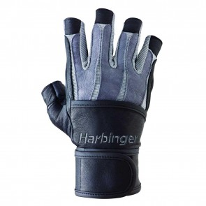 Harbinger BioForm WristWrap Glove Black/Gray (XXL)