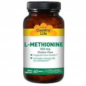 Country Life L-Methionine 500 With B-6 Mg 60 Tablets