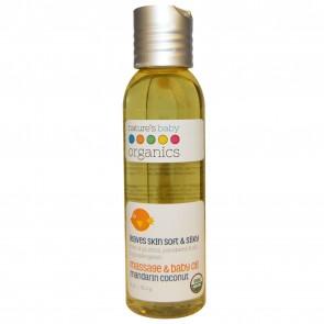 Organic Baby Oil - Mandarin/Coconut -Organic - 4 oz