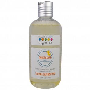 Nature's Baby Organics, Bubble Bath, Tangy Tangerine, 12 fl oz (354.9 ml)