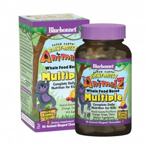 Bluebonnet Super Earth Rainforest Animalz Whole Food Based Multiple 90 Aniamlz-Shaped Chewables