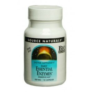 Source Naturals Daily Essential Enzymes 500 mg 10 Capsules