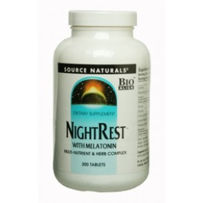 Source Naturals NightRest with Melatonin 200 Tablets