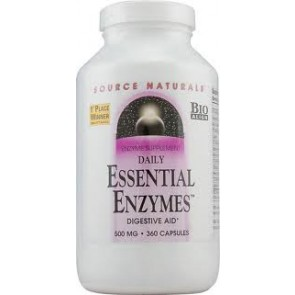 Source Naturals Daily Essential Enzymes 500 mg 360 Capsules
