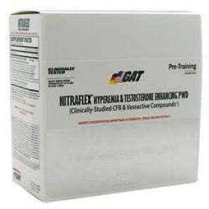 GAT Nitraflex Hypermia & Testosterone Enhancing PWD 8 Single Serving Packets ( 80g/2.8 oz)
