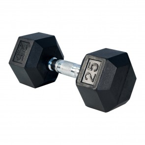 G Fitness Rubber Encased Hex Dumbbell 25 lb