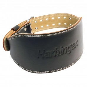 6 Inch Padded Leather Belt Medium