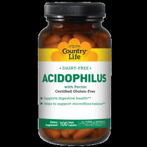 Country Life Acidophilus with Pectin 100 Vegan Capsules