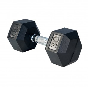G Fitness Rubber Encased Hex Dumbbell 30 lb