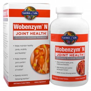 Garden of Life Wobenzym N Joint Health 800 Enteric Coated Tablets