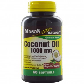 Mason Vitamins, Coconut Oil, 1000 mg, 60 Softgels