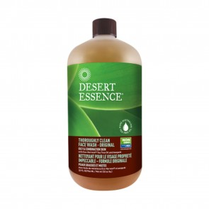 Desert Essence Thoroughly Clean Face Wash Original Refill Size 32 fl oz