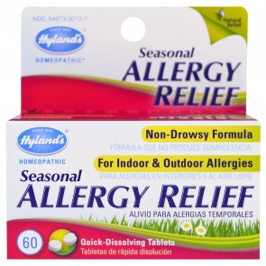 Hyland's Seasonal Allergy Relief 60 Quick-Dissolving Tablets